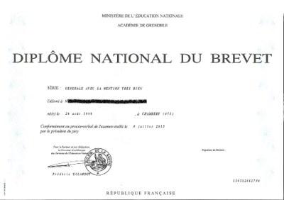 Diplôme DNB