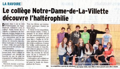 janvier 2014 - DL - haltérophilie